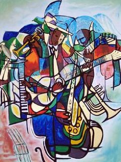 Transcendent of the Blues 1993 Limited Edition Print by William Tolliver