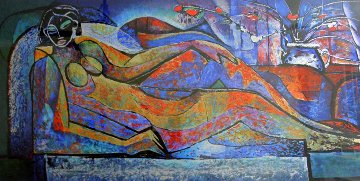 Reclining Nude 1993 Limited Edition Print by William Tolliver