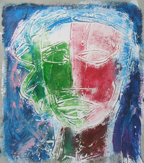 Untitled Oil on Paper 1995 10x8 Original Painting - William Tolliver