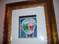 Untitled Oil on Paper 1995 10x8 Original Painting by William Tolliver - 1