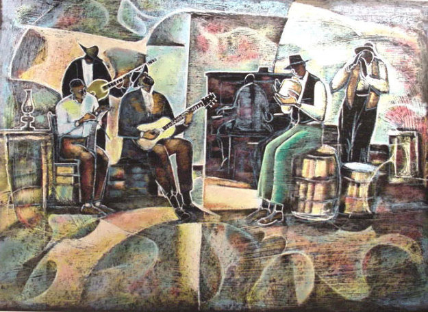 Jug Band Limited Edition Print by William Tolliver