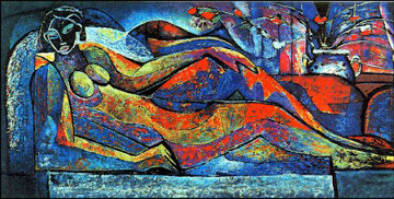 Reclining Nude Limited Edition Print by William Tolliver