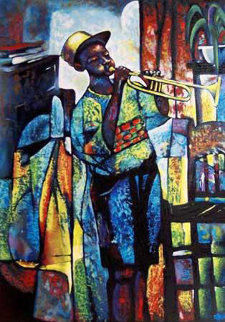 Learning to Play 1996 Limited Edition Print by William Tolliver