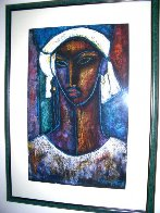 True Elegance Monotype 1993 51x37 Works on Paper (not prints) by William Tolliver - 4