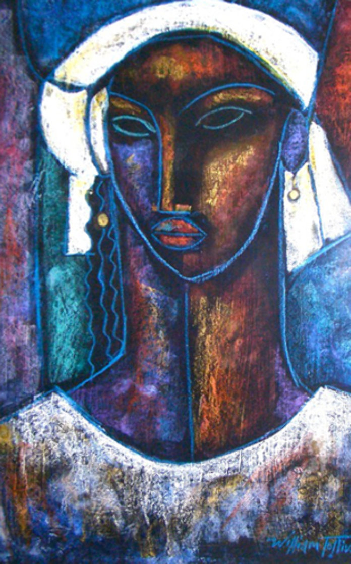 True Elegance Monotype 1993 51x37 Works on Paper (not prints) by William Tolliver