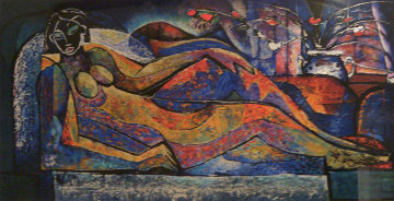 Reclining Nude 1992 Limited Edition Print by William Tolliver