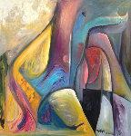 Untitled Painting 43x43 Original Painting - William Tolliver