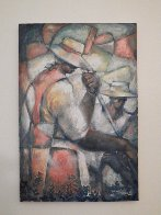 Untitled (Field Workers) 36x24 Original Painting by William Tolliver - 3