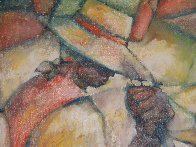 Untitled (Field Workers) 36x24 Original Painting by William Tolliver - 6