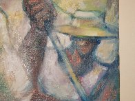 Untitled (Field Workers) 36x24 Original Painting by William Tolliver - 7