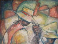 Untitled (Field Workers) 36x24 Original Painting by William Tolliver - 8