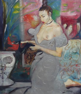 Sensuous Lady, Epoch 1993 50x38 Original Painting - William Tolliver