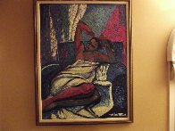 Amorous Lady 1993 48x38 Super Huge Original Painting by William Tolliver - 2