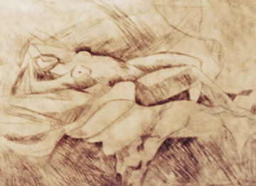 Reclining Nude 1991 Limited Edition Print by William Tolliver