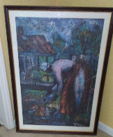 Feeding the Chickens 1989 Limited Edition Print by William Tolliver - 1