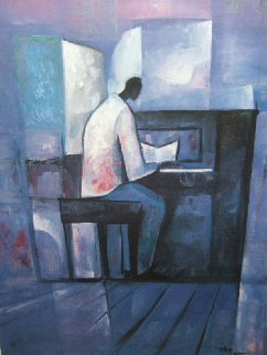Piano Player 1990 Limited Edition Print by William Tolliver