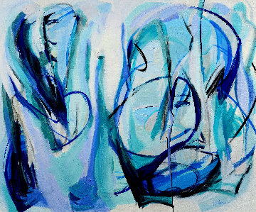 Vacuity 2020 46x54 Original Painting - Gabriela Tolomei