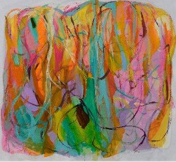 Alchemical Symbols 2017 58x62 Original Painting - Gabriela Tolomei