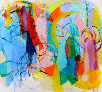 Unveiled Space 2017 55x61 Original Painting - Gabriela Tolomei