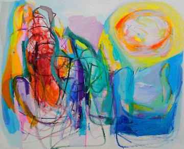 New Winds 2020 50x61 Super Huge Original Painting - Gabriela Tolomei