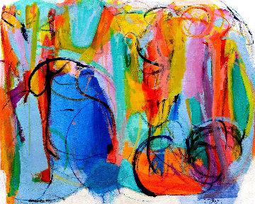 Sacred Trilogy 2019 45x56 Original Painting - Gabriela Tolomei