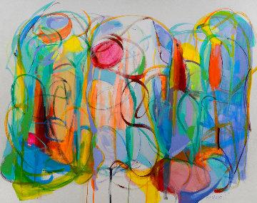 Thread of Grace 2020 51x63 Super Huge Original Painting - Gabriela Tolomei