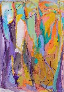Sphinxes 2015 58x42 Super Huge Original Painting - Gabriela Tolomei