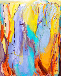Acquired Wisdom 2015 68x56 Super Huge Original Painting - Gabriela Tolomei