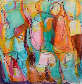 Luminous 2015 55x55 Super Huge Original Painting - Gabriela Tolomei