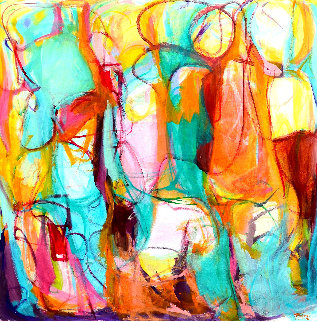 Luminous 2015 55x55 Original Painting by Gabriela Tolomei