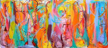 Universal Heartbeats 2015 57x125 Mural  Original Painting by Gabriela Tolomei