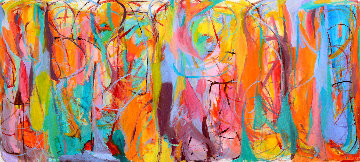 Universal Heartbeats 2015 57x125 Mural  Original Painting - Gabriela Tolomei