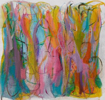 Luminous Dialogue 2016 54x57  Huge Original Painting - Gabriela Tolomei
