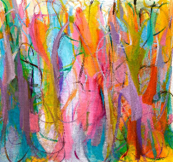 Luminous Dialogue 2016 54x57 Original Painting - Gabriela Tolomei