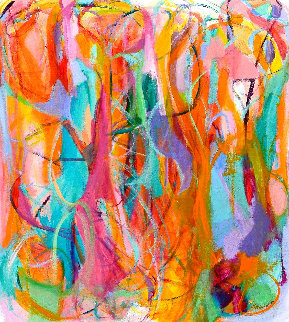 Glances of All Time 2016 57x50 Original Painting - Gabriela Tolomei