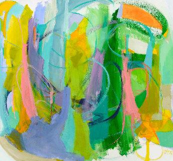 Silent Heart 2016 57x61 Original Painting - Gabriela Tolomei
