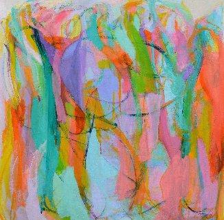 Dance 2016 47x50  Huge Original Painting - Gabriela Tolomei