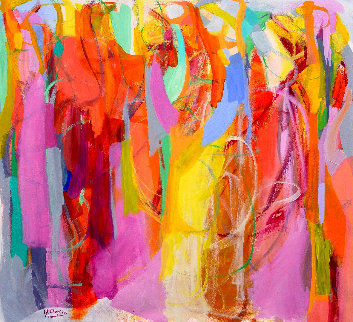 Illuminated 2016 52x57 Original Painting - Gabriela Tolomei