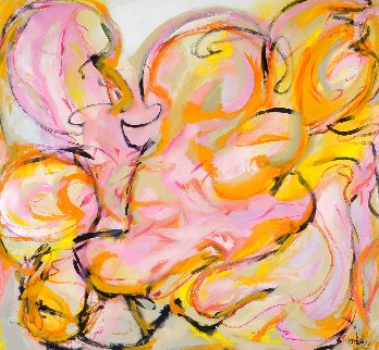 Force of Love 2012 54x56 Original Painting - Gabriela Tolomei