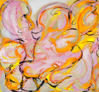 Force of Love 2012 54x56 Super Huge Original Painting - Gabriela Tolomei