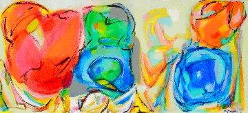 Mutating 2013 13x46 Original Painting - Gabriela Tolomei