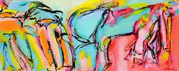 Nice Ride 2013 19x42 Original Painting - Gabriela Tolomei