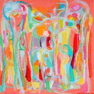 Presences I 2014 16x16 Original Painting - Gabriela Tolomei