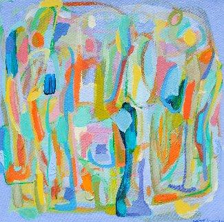 Presences II 2014 16x16 Original Painting - Gabriela Tolomei