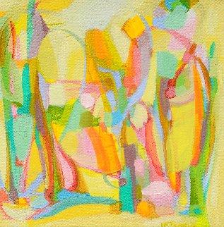 Presences III 2014 15x15 Original Painting - Gabriela Tolomei
