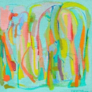 Presences IV 2014 15x15 Original Painting - Gabriela Tolomei
