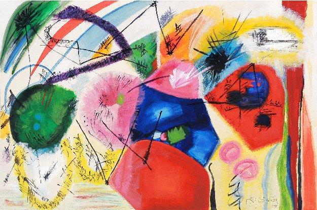 Joy 2009 31x47 Original Painting by Gabriela Tolomei