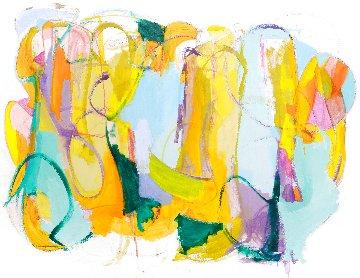 Silence of Truth 2017 70x93 Original Painting - Gabriela Tolomei