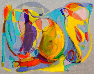 Maitreya 2020 42x54 Super Huge Original Painting - Gabriela Tolomei