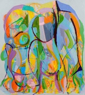 Trascendencia 2021 59x53 Super Huge Original Painting - Gabriela Tolomei